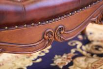 拉帝撒家居 桃花心木 美式风格 实木床尾凳