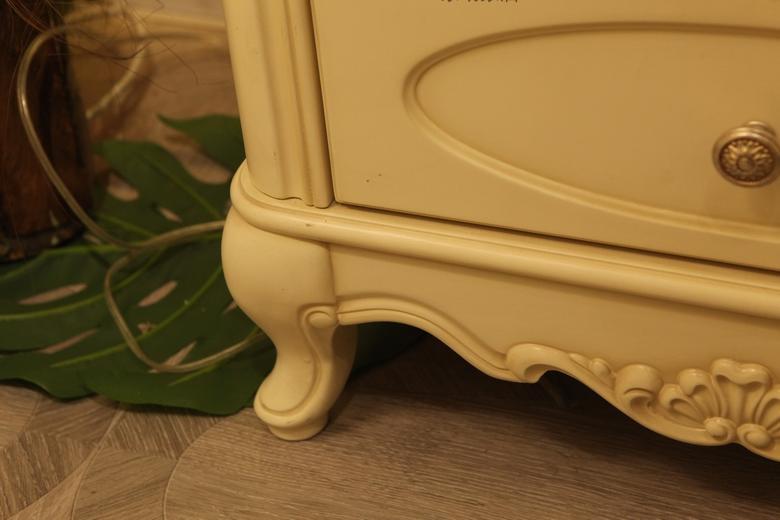 威林美庭家具木欧式橡胶实木床头柜哪藤多风格在最艺图片