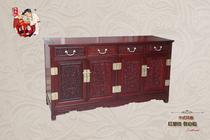 年年红 红酸枝 中式风格 西番莲台柜