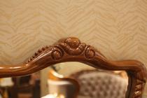 安东尼奥 乌金木 牛皮 橡胶木 欧式风格 妆台组合