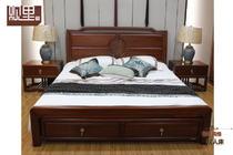 观里 胡桃木 新中式风格 实木床